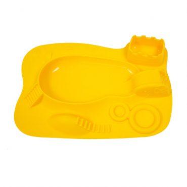 Παιδικό Πιάτο σιλικόνης με δραστηριότητες amusemat Marcus & Marcus Κίτρινος Ασφαλές με δραστηριότητες καμηλοπάρδαλη αντιολισθητικό