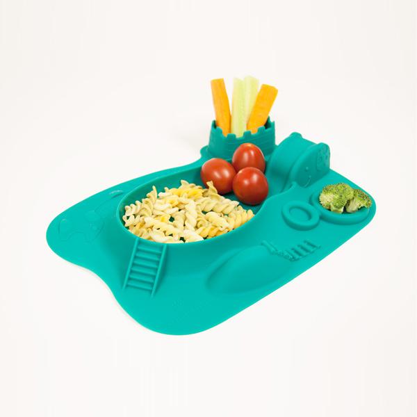 Παιδικό Πιάτο σιλικόνης amusemat Marcus & Marcus με δραστηριότητες αντιολισθητικό