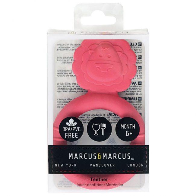 βρεφικό Μασητικό σιλικόνης Λιονταράκι Marcus & Marcus Ασφαλή μαλακά τρισδιάστατα ζωάκια