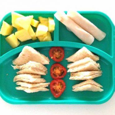 Παιδικό Πιάτο divided φαγητού σιλικόνης με χωρίσματα Τιρκουάζ Marcus & Marcus Ασφαλές, εύκαμπτο, αντιολισθητικό