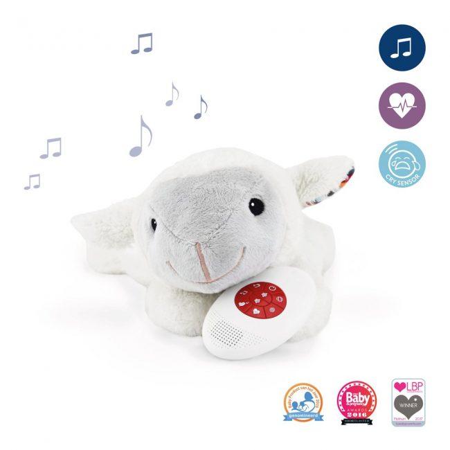 Ζωάκια ύπνου με χτύπο της καρδιάς & λευκούς ήχους ZAZU Πλενόμενος βοηθός συντροφιάς για τον ύπνο των μωρών με ακουστικό αισθητήρα