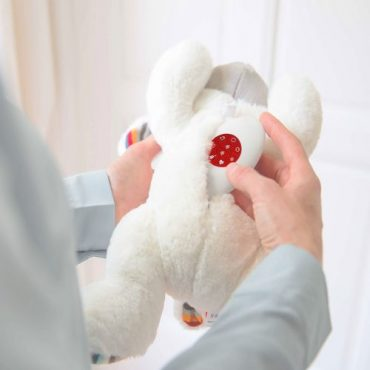 Αρνάκι LIZ Ζωάκια με χτύπο της καρδιάς & λευκούς ήχους ZAZU Πλενόμενος βοηθός για τον ύπνο των μωρών