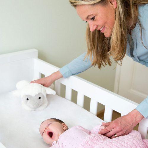 Αρνάκι LIZ Ζωάκια ύπνου με χτύπο της καρδιάς & λευκούς ήχους ZAZU Πλενόμενος βοηθός συντροφιάς για τον ύπνο των μωρών