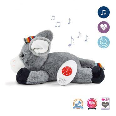Γαιδουράκι DON Ζωάκια ύπνου νανουρίσματος με χτύπο της καρδιάς & λευκούς ήχους ZAZU Πλενόμενος βοηθός συντροφιάς για τον ύπνο των μωρών