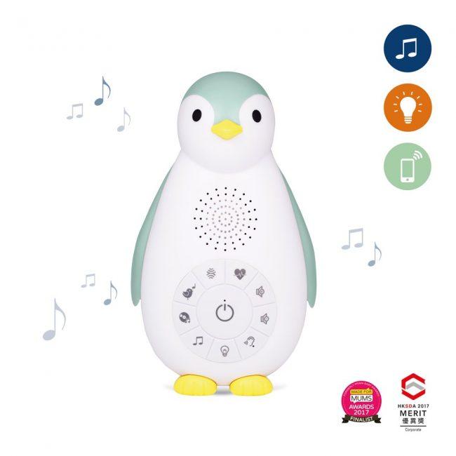 zoe ZAZU blue φορητή συσκευή νανουρίσματος & συντροφιάς με ήχο καρδιάς, λευκούς ήχους, ήχος της φύσης, και φωτάκι νυκτός, επαναφορτιζόμενο