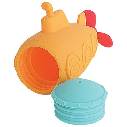 Παιχνίδι Μπάνιου σιλικόνης Υποβρύχιο ανοίγει για πλύσιμο Marcus & Marcus Η σιλικόνη του αλλάζει χρώμα εάν το νερό είναι πολύ ζεστό