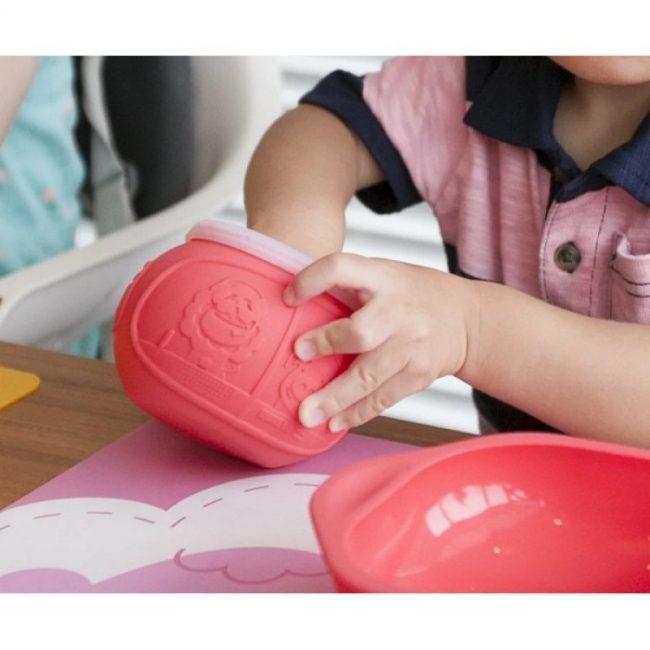 Παιδικό Σνακ Μπολ Σιλικόνης Marcus & Marcus Μαλακό εύκαμπτο παιδικό μπολάκι σιλικόνης με σχισμές