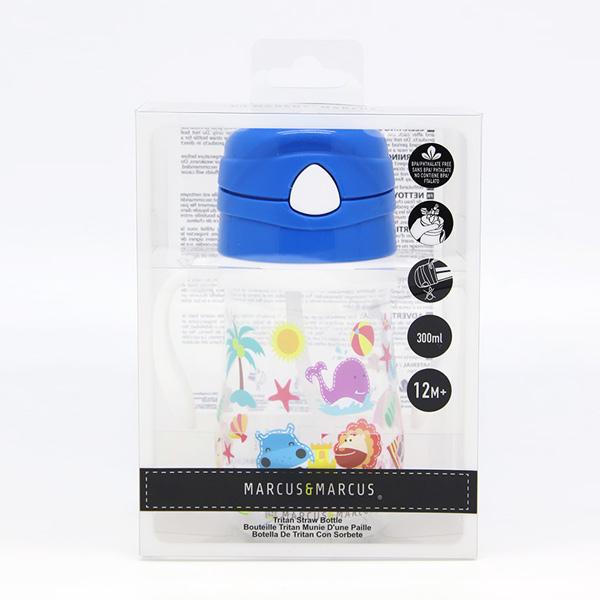 Παιδικό Μπουκάλι Tritan, καλαμάκι σιλικόνης, χερούλια εκμάθησης μετάβασης marcus & marcus