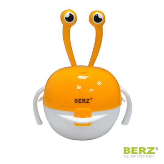 Βρεφικό Σετ Μπολ Φαγητού 5 σε 1 Berz 04m+ Πορτοκαλί Καβουράκι 8 τmx. μπολ, ποτηρι & κουταλοπήρουνα σιλικόνης!