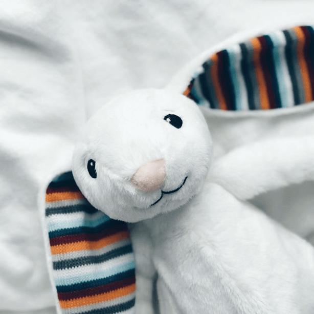 Λαγουδάκι BIBI Ζωάκια ύπνου με χτύπο καρδιάς & λευκούς ήχους ZAZU