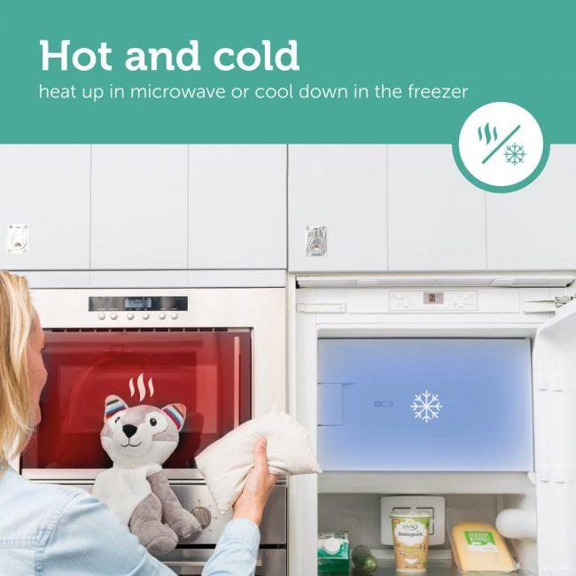 Ηowy θερμαινόμενο κουκλάκι κολικών & ψύξης ZAZU Χάσκι θερμοφόρα 2