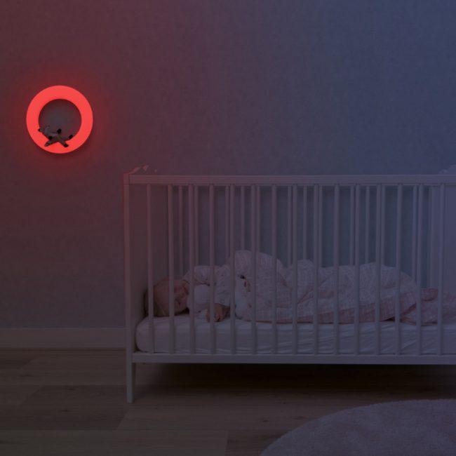 Έξυπνο παιδικό φωτιστικό τοίχου πολύχρωμο με 3 μαγνητικά μαλακά ΖΑΖU ζωάκια FAY η Αλεπού, REX το Ρακούν & OTIS η Κουκουβάγια. 4