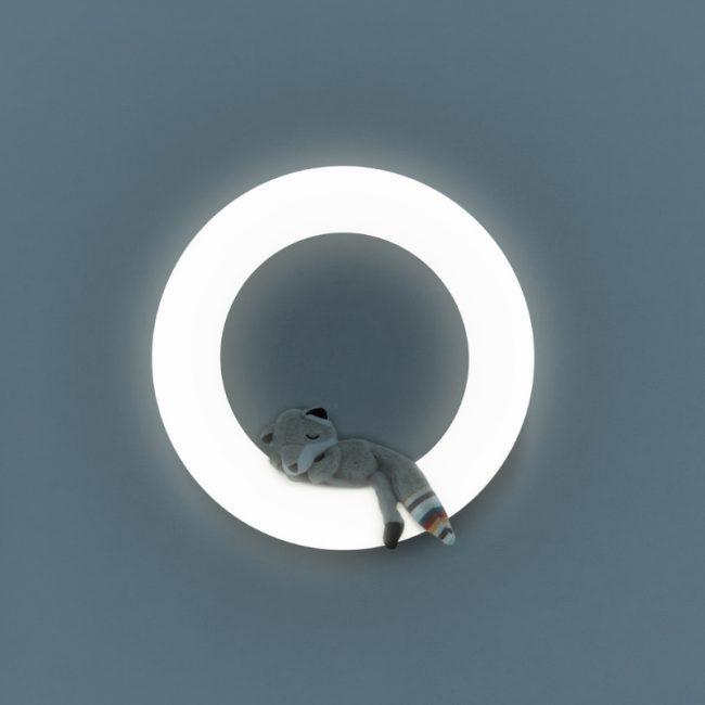 Έξυπνο παιδικό φωτιστικό τοίχου πολύχρωμο με 3 μαγνητικά μαλακά ΖΑΖU ζωάκια FAY η Αλεπού, REX το Ρακούν & OTIS η Κουκουβάγια. 2