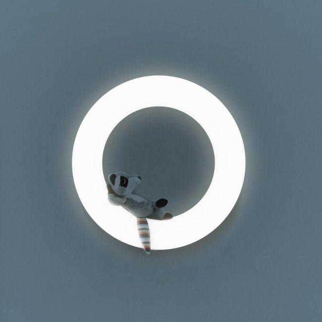 Έξυπνο παιδικό φωτιστικό τοίχου πολύχρωμο με 3 μαγνητικά μαλακά ΖΑΖU ζωάκια FAY η Αλεπού, REX το Ρακούν & OTIS η Κουκουβάγια. 12