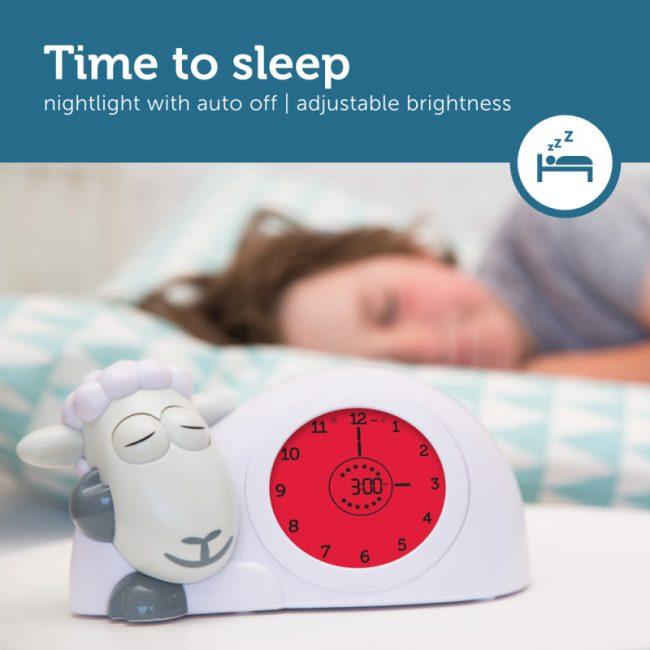 Ρολόι Sam παιδικό ξυπνητήρι ύπνου, φωτάκι νυκτός προβατάκι ZAZU για την εκμάθηση του πρωινού ξυπνήματος πολύχρωμο 10