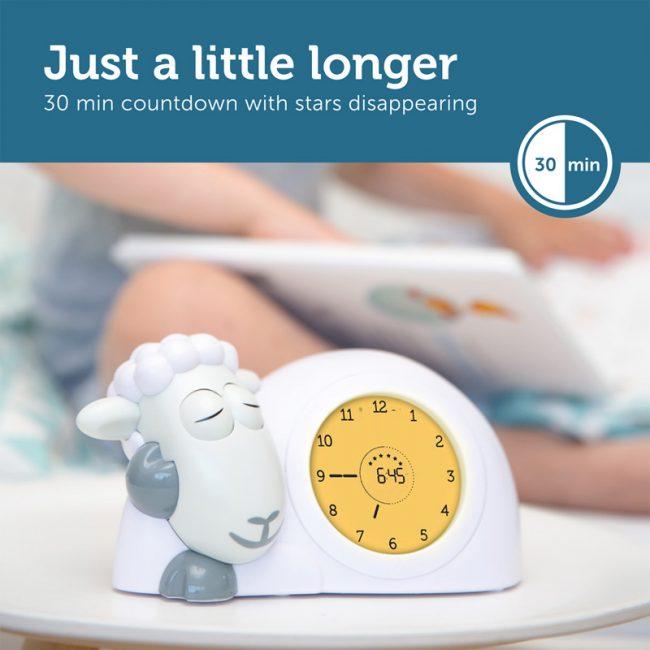 Ρολόι Sam παιδικό ξυπνητήρι ύπνου, φωτάκι νυκτός προβατάκι ZAZU για την εκμάθηση του πρωινού ξυπνήματος πολύχρωμο 9