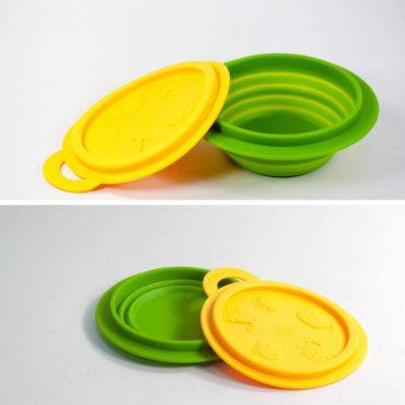 Βρεφικό Πτυσσόμενο Μπολ Σιλικόνης Marcus & Marcus Κίτρινο Πράσινο