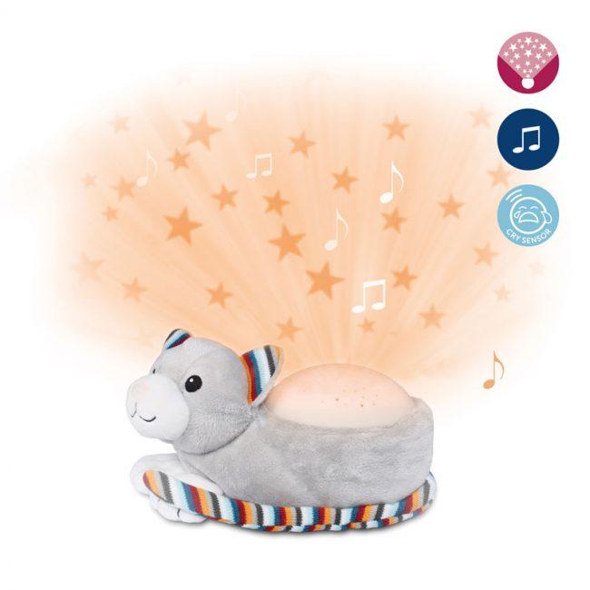 Γάτα Kiki βρεφικός Προτζέκτορας με χτύπο καρδιάς λευκό ήχο μελωδία ZAZU Συσκευή προβολής 2