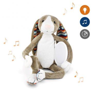 Bo Κουνελάκι με φωτάκι νυκτός Ζωάκια ύπνου με μελωδίες & λευκό ήχο φύσης ΖAZU 4