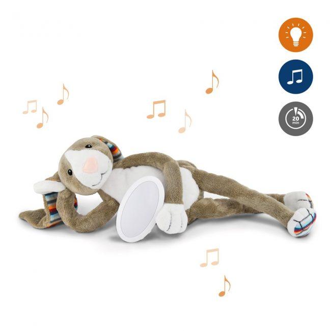 Bo Κουνελάκι με φωτάκι νυκτός Ζωάκια ύπνου με μελωδίες & λευκό ήχο φύσης ΖAZU 3
