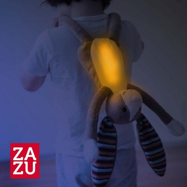 Bo Κουνελάκι με φωτάκι νυκτός Ζωάκια ύπνου με μελωδίες & λευκό ήχο φύσης ΖAZU 2