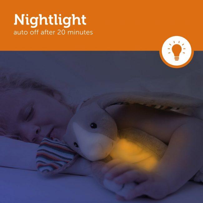Bo Κουνελάκι με φωτάκι νυκτός Ζωάκια ύπνου με μελωδίες & λευκό ήχο φύσης ΖAZU