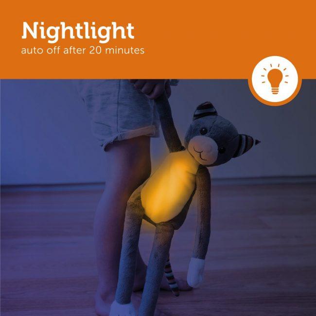Katie Γατούλα με φωτάκι νυκτός Ζωάκια ύπνου με μελωδίες & λευκό ήχο φύσης ΖAZU 2