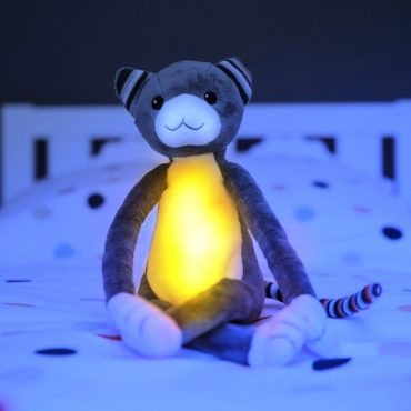 Katie Γατούλα με φωτάκι νυκτός Ζωάκια ύπνου με μελωδίες & λευκό ήχο φύσης ΖAZU 5