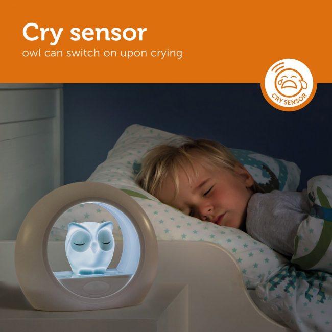 Lou Κουκουβάγια παιδικό Φώς νυκτός με ηχητικό αισθητήρα ZAZU φορητό