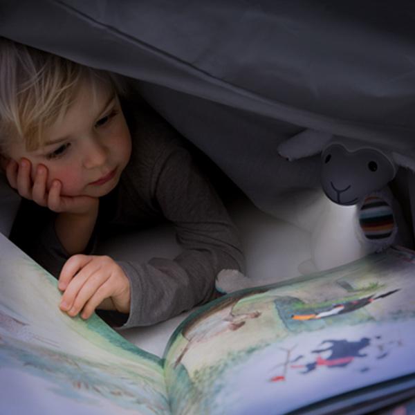 Fin Προβατάκι παιδικό φώς νυκτός & ανάγνωσης LED, ρύθμιση νυκτός με USB ZAZU