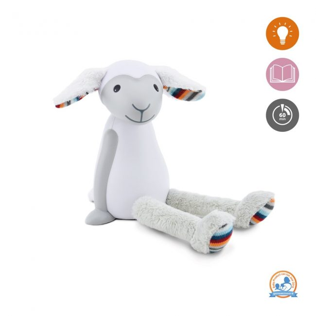 Fin Προβατάκι παιδικό φώς νυκτός & ανάγνωσης LED, ρύθμιση νυκτός με USB ZAZU φορητό