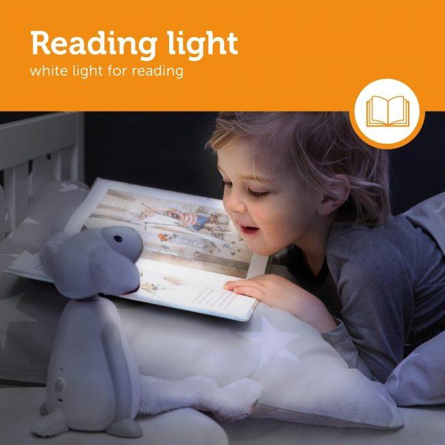 Fin Προβατάκι παιδικό φώς νυκτός & ανάγνωσης LED, ρύθμιση νυκτός με USB ZAZU γκρί
