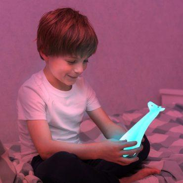 Gina η Καμηλοπάρδαλη φακός & φωτάκι νυκτός ΖΑΖU Πολύχρωμο μπλέ