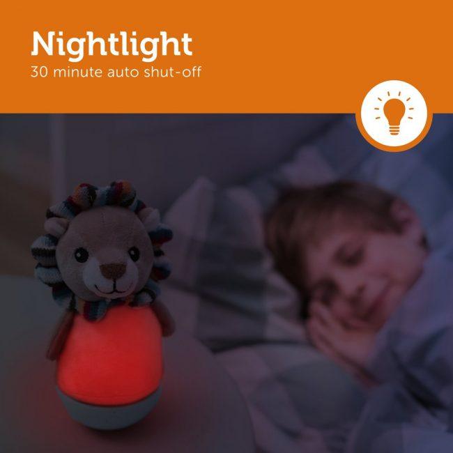 Lex Λιονταράκι παιδικό φωτάκι παλλόμενο Νύχτας πολύχρωμο ZAZU lion