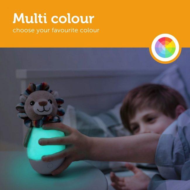 Lex Λιονταράκι παιδικό φωτάκι παλλόμενο Νύχτας πολύχρωμο ZAZU