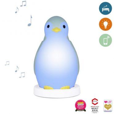 Pam Φώς νυκτός, Ξυπνητήρι εκμάθησης, Ασύρματο Ηχείο, ZAZU blue πιγκουίνος έξυπνη συσκευή Bluetooth, πολύχρωμο φορητό