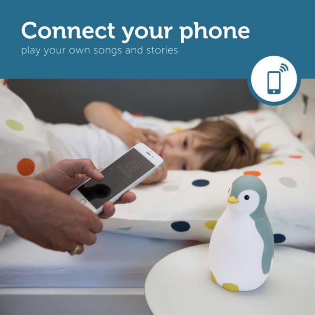 Pam Φώς νυκτός, Ξυπνητήρι εκμάθησης, Ασύρματο Ηχείο, ZAZU blue πιγκουίνος έξυπνη συσκευή Bluetooth, πολύχρωμο tirkouaz