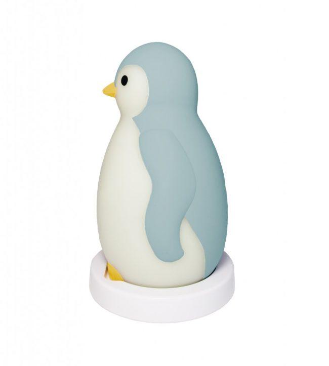 Pam Φώς νυκτός, Ξυπνητήρι εκμάθησης, Ασύρματο Ηχείο, ZAZU blue πιγκουίνος έξυπνη συσκευή Bluetooth, πολύχρωμοblue