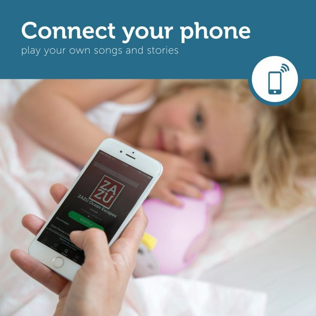 Pam Φώς νυκτός, Ξυπνητήρι εκμάθησης, Ασύρματο Ηχείο, ZAZU blue πιγκουίνος έξυπνη συσκευή Bluetooth, πολύχρωμο pink