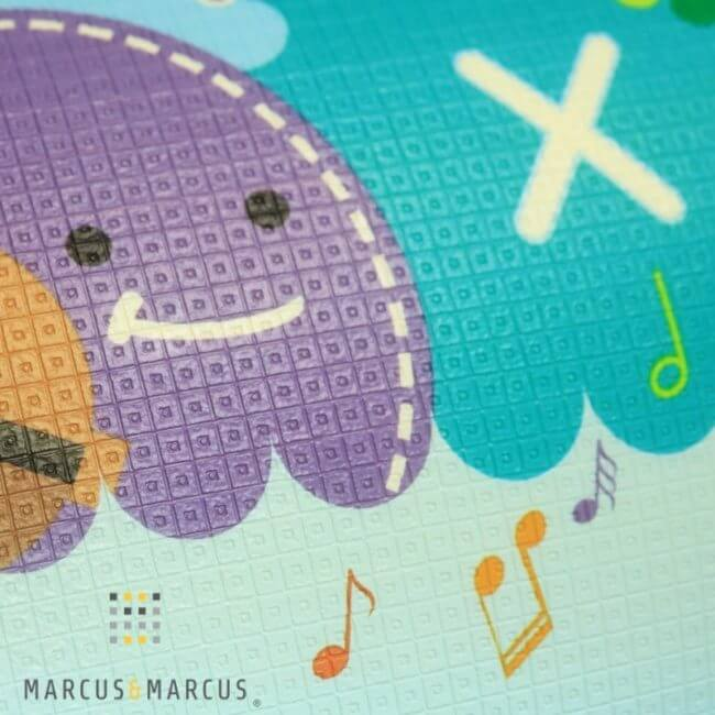 Χαλάκι παιχνιδιού δραστηριοτήτων αφρού XPE 2 όψεις double playmat marcus & marcus 150 X 180