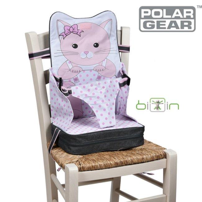 Φορητό Ενισχυτικό καθίσματος παιδικό 3 σημείων Τσαντάκι γατούλα Kitty