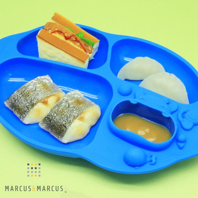Πιάτο Σιλικόνης με Βεντούζα Yummi DIP Hippo Marcus & Marcus