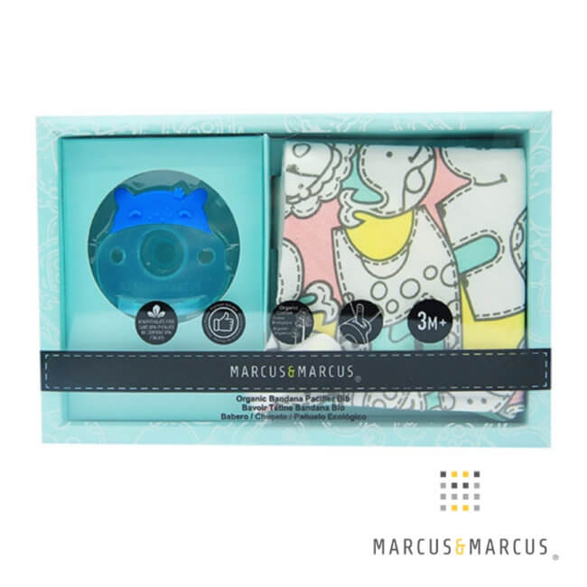 Σαλιάρα βιολογική με πιπίλα Σιλικόνης Ιπποπόταμος marcus & marcus