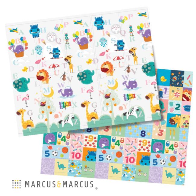 Χαλί Παιχνιδιού για μπουσούλημα 2 Όψεων ABC foldable Marcus & Marcus