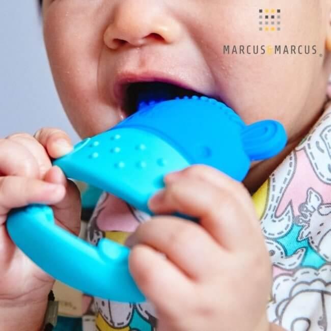 Βρεφικό Μασητικό Σιλικόνης Marcus & Marcus Hippo δοντιών