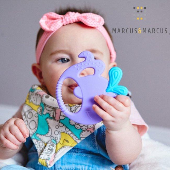Βρεφικό Μασητικό Σιλικόνης 5 αισθήσεων Marcus & Marcus φάλαινα οδοντοφυΐας