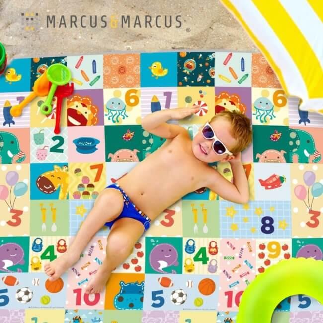 Χαλί για παιχνίδι Outdoor Love to Counting για εξωτερική χρήση, τη βόλτα, τη θάλασσα marcus & marcus