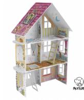 Σπιτάκι XXL Spring House MoNumi από 3D Λευκό χαρτόνι Ζωγραφικής Χάρτινες Κατασκευές – BabyRun