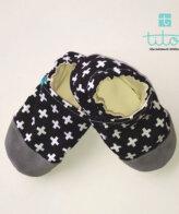 Βρεφικά Παπούτσια Αγκαλιάς Ελβετικά Μαύρα baby run Χειροποίητα 24-36 Mηνών   TiTot Νο 24