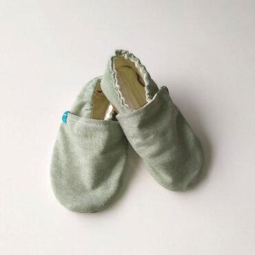 Βρεφικά Παπούτσια Αγκαλιάς Crawl Καμβάς Μέντας baby run Χειροποίητα 24-36 Mηνών | TiTot Νο 24